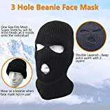 3 Hole Beanie Face Mask Ski - Warm Double Thermal