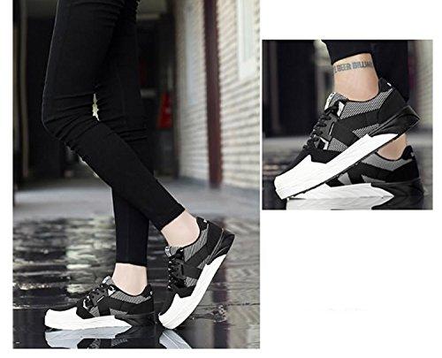 Ayuda nuevos Ligera Libre de Deportes transpirabilidad Zapatos Zapatos de y Zapatos Chicas Práctica Antideslizante Aire Baja de para Práctica Mujer Ocasionales Mujeres Negro Senderismo para n4nHqTA