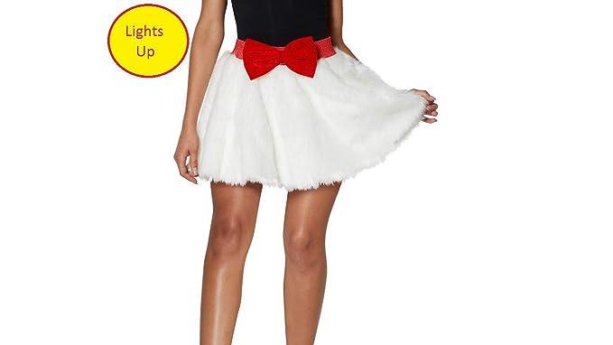 74f8353857 Light-Up Christmas Faux Fur Skirt Seasonal Holiday Wear for Women ...