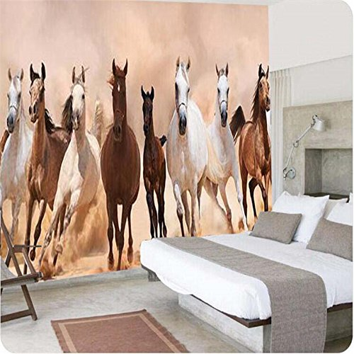 250cmX175cm 3d wallpaper European Horse Animal Wall paper speeding full steam ahead mural wallpaper living room papel de parede,250cmX175cm