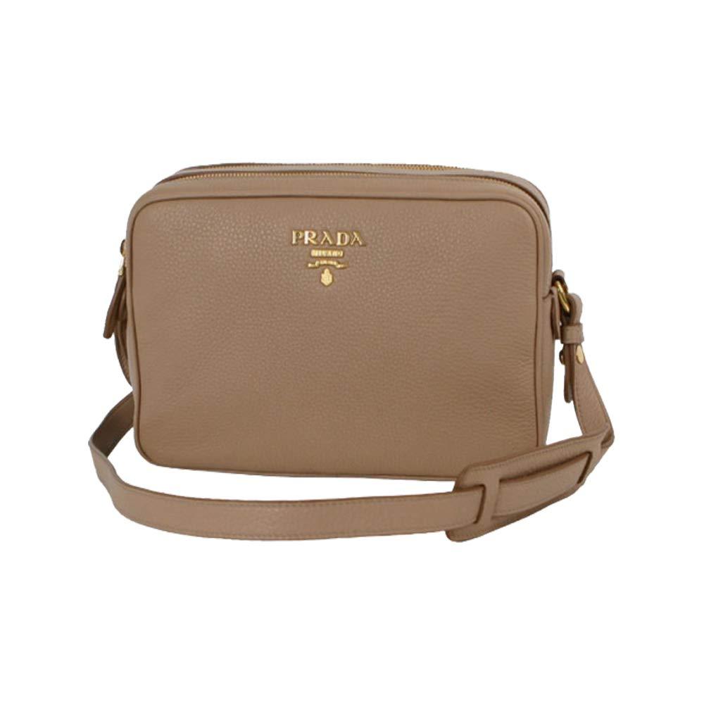 4526e8049796 Prada Women s Beige Vitello Phenix Leather Crossbody Hand Bag 1BH079   Handbags  Amazon.com