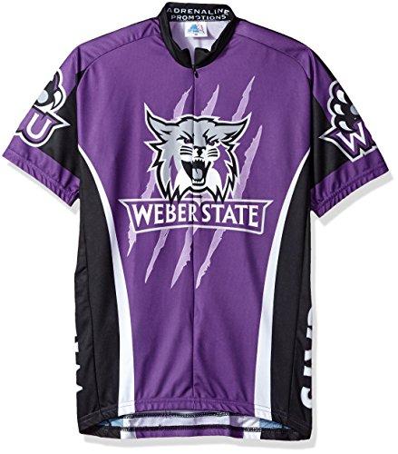 (Adrenaline Promotions NCAA Weber State Wildcats Men's Road Jersey, Small, Purple/Black)