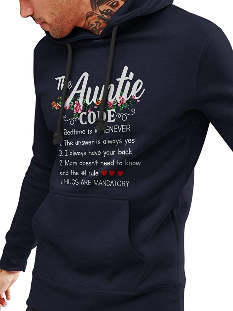 Funny Auntie Gift T-Shirts Unisex Style Hoodie SMLBOO The Auntie Code