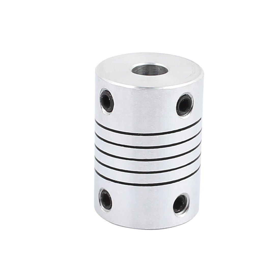 uxcell シャフトカップリング 6mm-6mm D18L25 アルミニウム合金