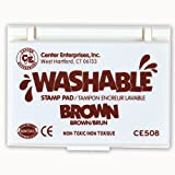 : Center Enterprise CE508 Washable Stamp Pad, Brown