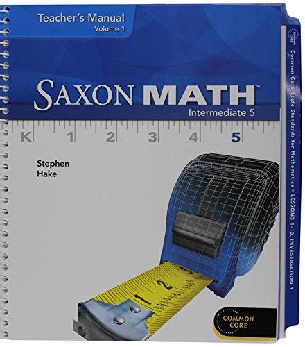 Saxon Math Intermediate 5: Teacher Bundle 2012