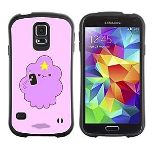 "Pulsar iFace Series Tpu silicona Carcasa Funda Case para Samsung Galaxy S5 , Angry Nube Estrella del dibujo del arte de la historieta"""