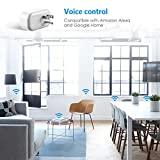 Criacr Mini Smart Plug, WiFi Wireless Control Sockets with Energy Monitoring, Timing Function, Work with Amazon Alexa and Google Home, Remote Control by Smartphone from Anywhere (2 PACK, White)