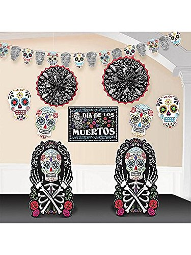 Day of the Dead Deluxe Room Decorating 10-Piece (Day Of The Dead Halloween Party)