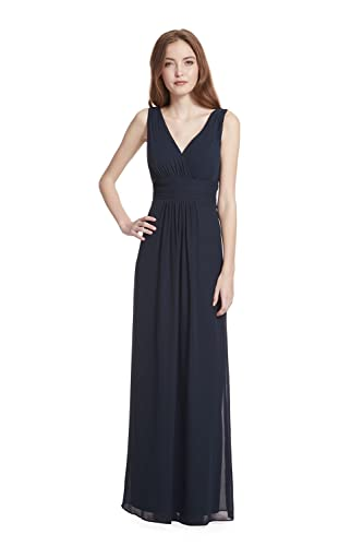 Samantha Paige V-Neck Sleeveless A-Line Floor Length Chiffon Formal Dress