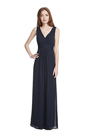 07c82117234e Samantha Paige V-Neck Sleeveless A-Line Floor Length Chiffon Formal Dress  at Amazon Women's Clothing store: