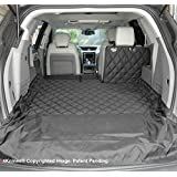 4Knines SUV Cargo Liner for Fold Down Seats - Heavy Duty - 60/40 Split and armrest Pass-Through fold Down Compatible - Black Large - USA Based Company