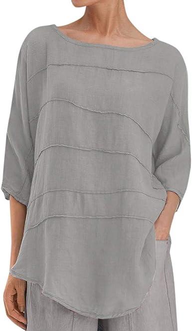 Poachers Tops Mujer Verano 2019 Camisas Mujer Tallas Grandes Vestir Blusas Mujer Verano 2019 Tallas Grandes Blusas para Mujer Elegantes Verano Camisetas Mujer Verano Anchas Manga Larga: Amazon.es: Ropa y accesorios