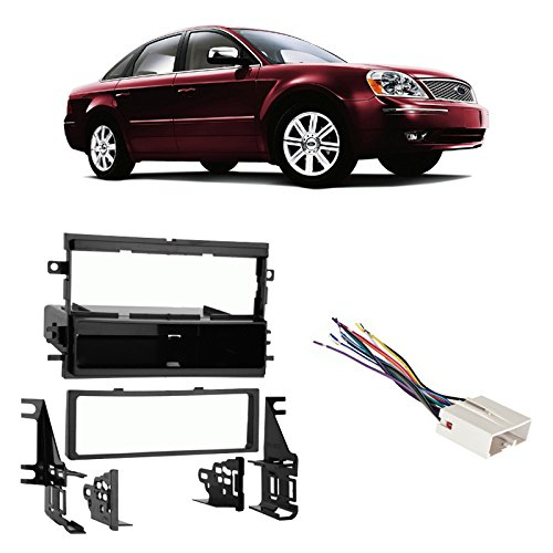 fits-ford-five-hundred-05-07-single-din-stereo-harness-radio-install-dash-kit