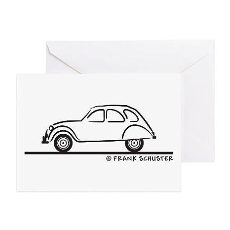 Retro Motor Company Greeting Card Citroen 2CV