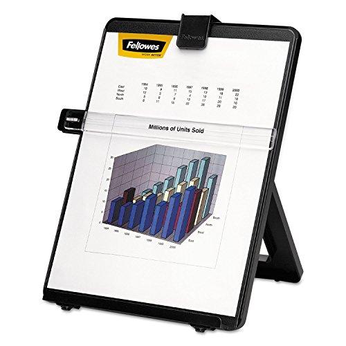 Fellowes 21106 Desktop Copyholder, Nonmagnetic, 10-1/8-Inch x7-3/8-Inch x11-1/4-Inch, BK ()
