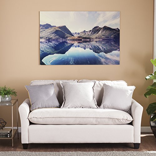 The Mountain Landscape Print Frameless Glass Wall Art
