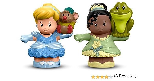 Fisher-Price Little People Disney Princess Cinderella & Tiana Figure: Amazon.es: Juguetes y juegos