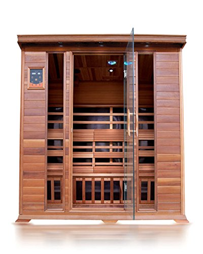 SunRay Sequioa 4 Person Infrared Cedar Sauna with Carbon Heaters (Cedar Sauna)