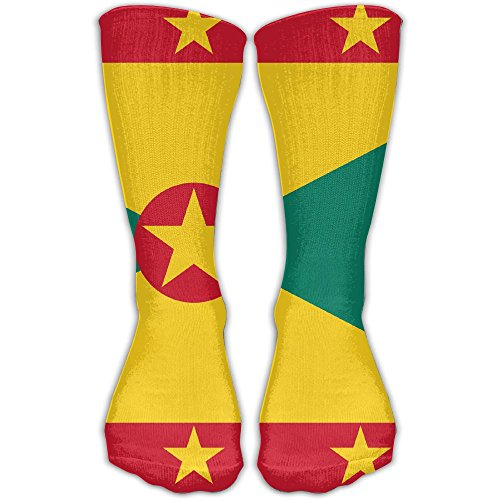 Grenada Honourable Flag Compression Socks For Women & Men Control Crew Socks For Best Stockings,Running, Medical, Athletic, Edema, Varicose Veins, Travel (Sheet Grenada)