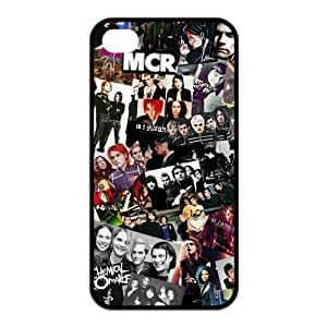 My Chemical Romance Pattern Design Solid Rubber Customized Cover Case for iPhone 4 4s 4s-linda187
