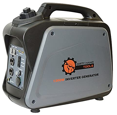 Dirty Hand Tools 1200W Gas Powered Inverter Generator (Hand Powered Tools)