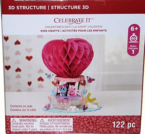 Valentines Day Heart Hot Air Balloon Craft Fun