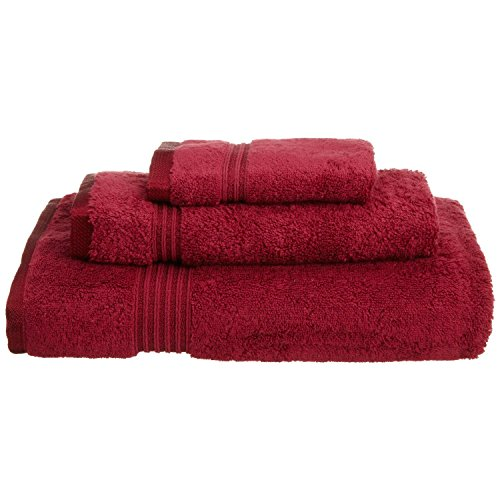 Superior Luxurious Soft Hotel & Spa Quality 3-Piece Towel Set, Made of 100% Premium Long-Staple Combed Cotton - Washcloth, Hand Towel, and Bath Towel, Burgundy