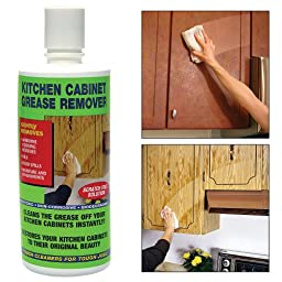 Kitchen Cabinet Degreaser: Cleans Grease Removes Residue - Non-Toxic