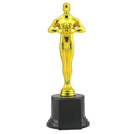 YeahiBaby Trofeos de Oro de Oscar para Niños y Adultos Favores de Fiesta y Fuego Trofeo