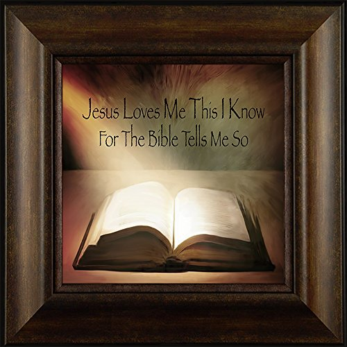The Bible Tells Me So By Todd Thunstedt 20x20 Inspirational Religious Bible Verse Quote Saying Jesus Testament Old New Psalm Framed Art Print Wall Décor Picture