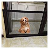 Mesh Dog Gate, Aolvo Foldable Safety Gate Protection Mesh Door Folding Safe Guard Install Anywhere,Wide 70 in