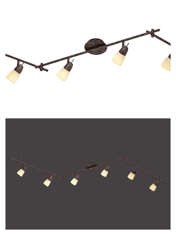 Deckenstrahler 6 Flammig Rost Farben Decken Spot Deckenlampe Beweglicher Strahler Flur Lampe Glas Deckenleuchte Deckenlicht Schlafzimmer