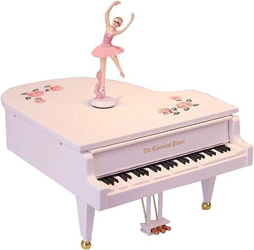 RIZHI-H Bailarina Musical Caja de joyería con conexión a MP3 ...