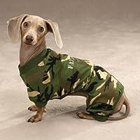 Pijamas para perros - Camuflaje fatigado Pijamas para perros - Camuflaje verde - X-Small (XS)