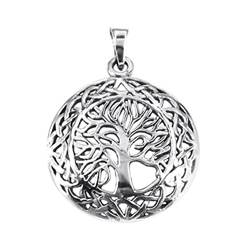 AeraVida Mystic Celtic Frame Tree of Life .925 Sterling Silver Pendant