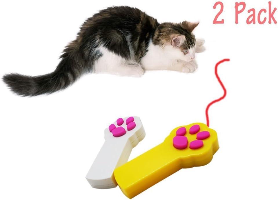 Kuiji Gato Juguetes Mascota Gato Captura Interactivo LED Ligero Puntero Juguete Ejercicio Rasguño Formación Herramienta Pata Estilo: Amazon.es: Productos para mascotas