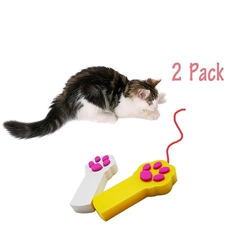 Kuiji Gato Juguetes Mascota Gato Captura Interactivo LED Ligero Puntero Juguete Ejercicio Rasguño Formación Herramienta Pata