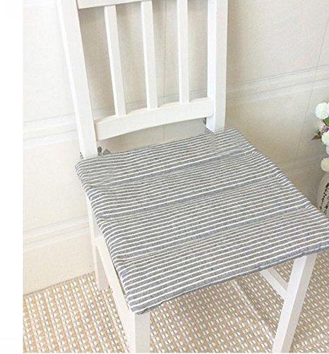 New day-Cotone e lino giapponese stile tatami semplice studentessa cuscino sedile cuscino sottile antiscivolo cordino sedia ufficio , 40x40cm , hide blue gx new day