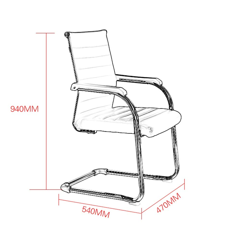 WYY HPLL kontorsstol kontor PU bågstol, konferensstol schackrum möte förhandlande stol multifunktion företag personalstol träningsstol, 8 färger svängbar stol (färg: Rosa) BLÅ