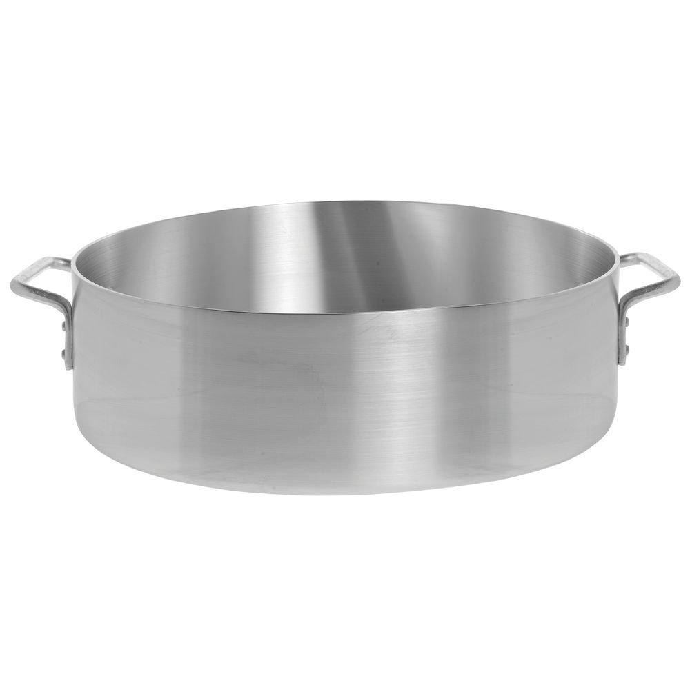 HUBERT Brazier Pan 24 Quart Aluminum - 17 3/10 Dia x 6 3/10 D