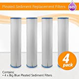 Max Water 4 Big Blue 20'' x 4.5'' Pleated Washable Sediment Water Filter 5 micron