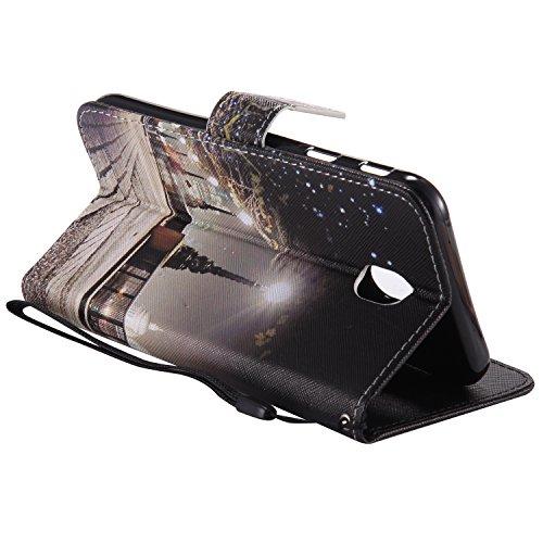 für Galaxy J7 2017 (EU-Modell) PU Wallet Case Schutz Hülle für - Cover Flip Tasche mit Kartenfach in Buch Stil mit Kartenfach Standfunktion Magnetverschluss und Hand Wrist +Schlüsselanhänger (O) (14) 15