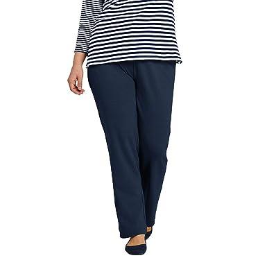 9a5970b47f9af Lands  End Women s Plus Size Sport Knit Elastic Waist Pants High Rise