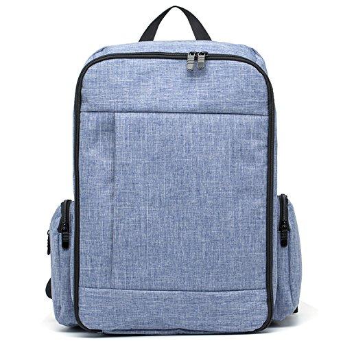 Azul De Mochila Bolsas Bolsillos Con Pañales Multifuncional Yooabc Viaje Para Bebé Capacidad Cambio Gran Bolsa Pañal Aislamiento Xgqfa