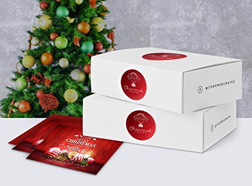 Christmas Gift Basket for Women: Ornaments, Tea, Candy Cane, Hand Cream, Potpourri Set for Her by Charmed Crates (Image #2)