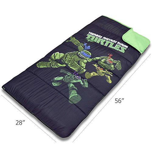 Cambay Linens Nickelodeon Kids Teenage Mutant Ninja Turtles Sleeping Bag Storage Bag, Black by Cambay Linens (Image #5)