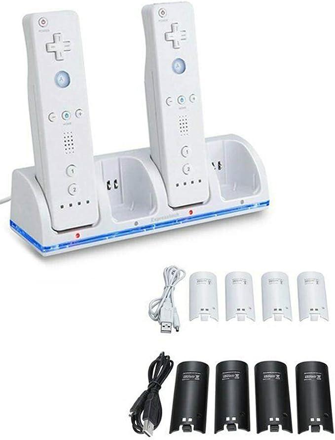 Amazon.com: Cargador para Nintendo Wii con 4 baterías de ...