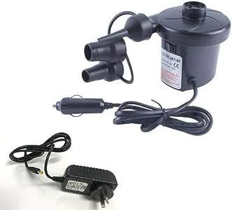 Electric Air Pump Inflator Deflator - AC Wall Plug and DC Car Lighter Plug