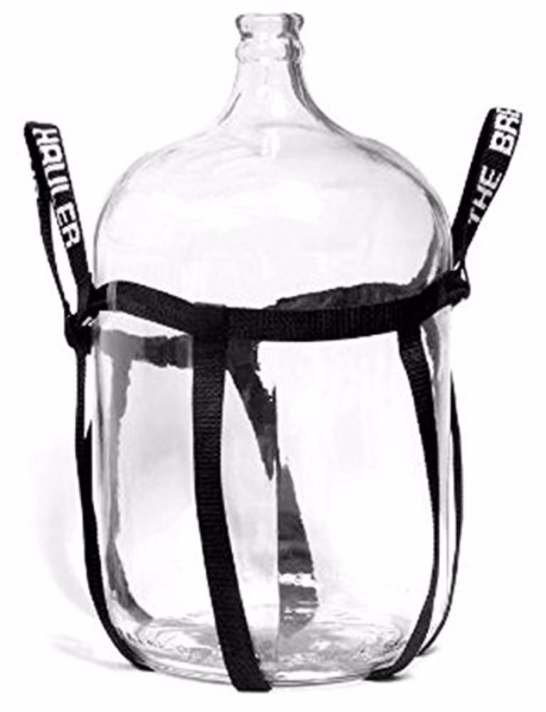 Home Brew Ohio Glass Carboy with Brew Hauler, 6.5 gal